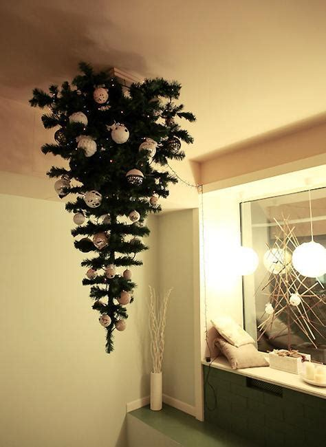 hanging upside  christmas trees reinventing space