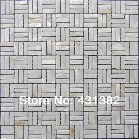 White Of Pearl Subway Tile by White Pearl Subway Shell Mosaic Tiles Of