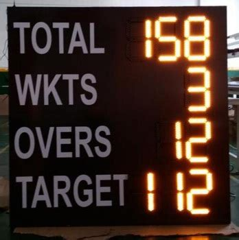 Led Electronic Portable Digital Cricket Scoreboard For