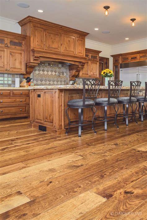 custom hand scraped hickory floor  cupertino oak