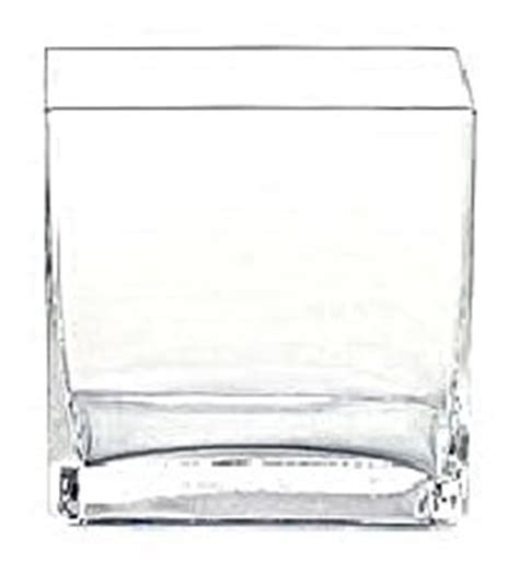 5 Inch Square Vase by 6pc Clear Square Glass Vase Vases Cube 5