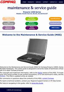 Compaq Xl115 Users Manual Presario 1200 Series Maintenance  U0026 Service Guide