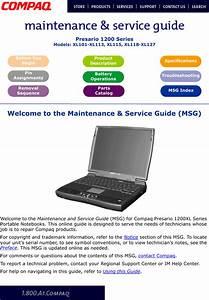 Compaq Xl115 Users Manual Presario 1200 Series Maintenance