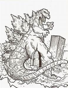 Godzilla Printable Coloring Pages Godzilla Coloring Sheets