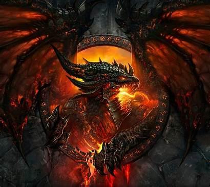 Warcraft Dragon Fantasy Fire Cool Dark Mythical