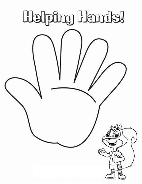 helping hand coloring page coloring sky
