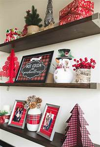 How, To, Style, Floating, Shelves, For, Christmas