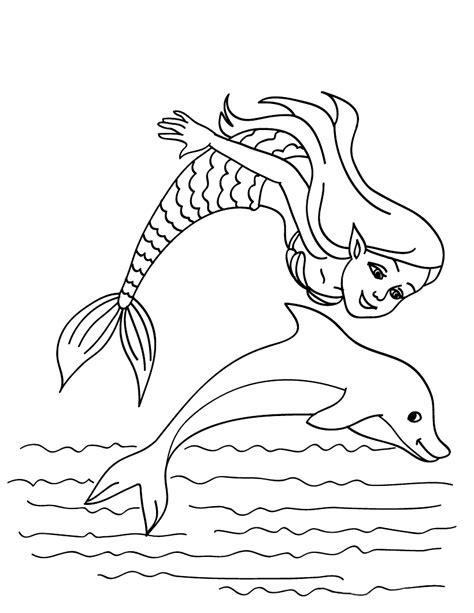 disegni da colorare la sirenetta  il delfino