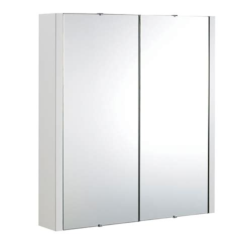 Wide Mirrored Bathroom Cabinet by Premier Asselby Bathroom Cabinet Nvm113 617mm White