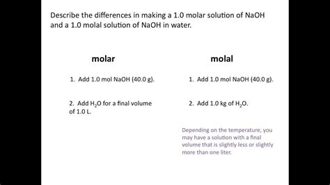 Molality  Chemistry Tutorial Youtube