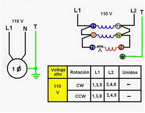 coparoman como se conecta de un motor monof 225 sico de fase partida de doble voltaje
