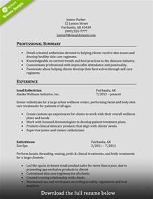 Cosmetologist Resume Summary by How To Write A Cosmetology Resume Exles Included