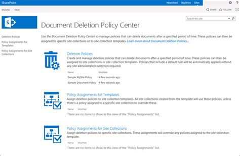 support document bureau overview of document deletion policies office support