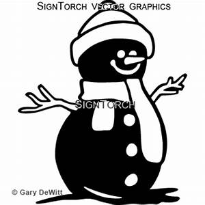 Snowman 5 = : SignTorch, Turning images into vector cut paths.