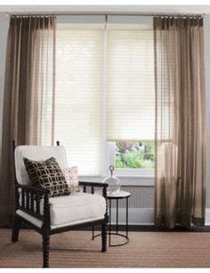 shear curtains on small den decorating