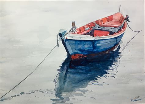 Boat Paint Lines by Boat Water Painting Gallery