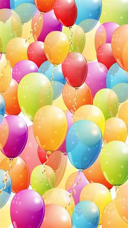 Balloons Happy Colorful Phone Brithday Birthday True