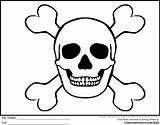 Pirate Coloring Pages Skull Bones Skulls Flags Drawings Printable Crossbones Flag Pirates Skeleton Sheets Cartoon Clip Ginormasource Halloween Birthday Cool sketch template