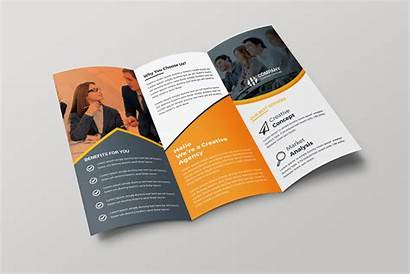 Brochure Fold Tri Creative Template Brochures Paris
