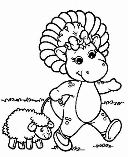 Coloring Barney Pages Birthday Printables Popular