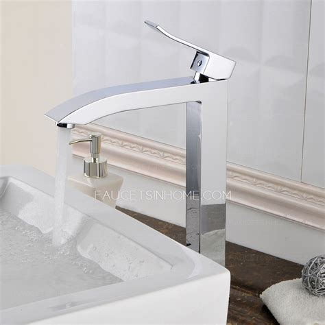 kitchen sink fittings high standing square chrome brass vessel mount bathroom 2709