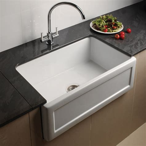 kitchen faucets uk astini belfast 760 1 0 bowl recessed white ceramic kitchen