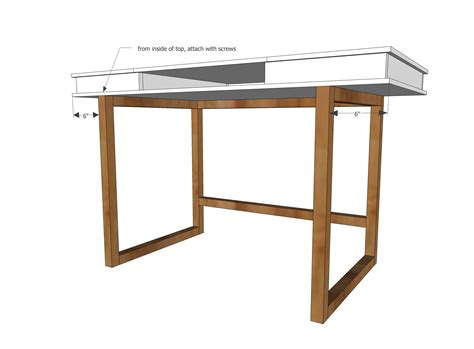 easy to make desk ana white build a modern 2x2 desk base for build your