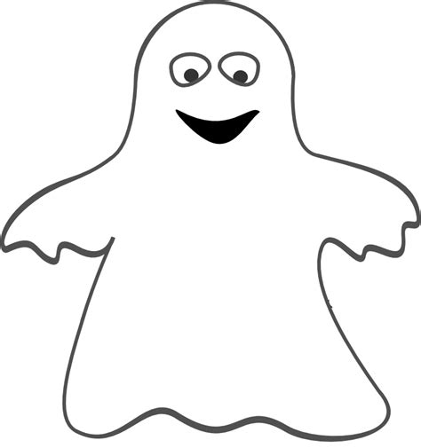 Ghost Template Simple Ghost Coloring Pages
