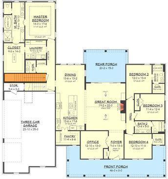 plan hz fresh  bedroom farmhouse plan  bonus room   car garage basement house