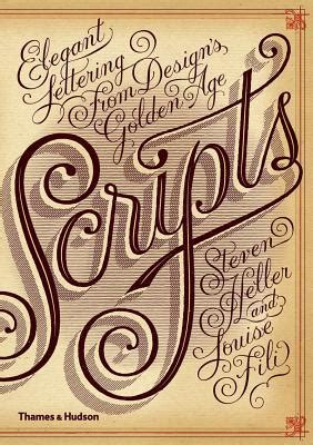 scripts elegant lettering  designs golden age