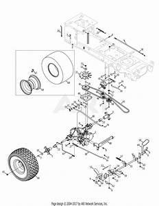 Mtd 13aa925p004  2010  Parts Diagram For Drive  U0026 Rear Wheels