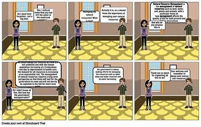 Natural Resources Comic Strip Managing Storyboard