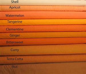 Kaffe Fassett Shot Cottons - Orange Color Chart
