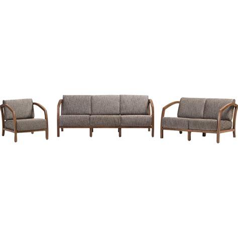 rubberwood kitchen cabinets velda 3 sofa set medium brown gravel dcg stores 2038