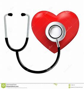Stethoscope And Heart  Vector Royalty Free Stock Images