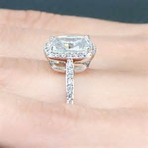 5 carat engagement ring amerie 39 s 2 5 carat cushion cut halo engagement ring