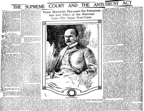 The Supreme Court And The Anti-Trust Act | Sunday Magazine