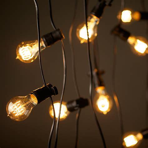 string lights vintage edison lighting string lights 240v 20m with