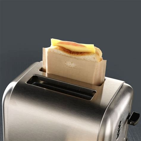 Toaster Bags by 5x Reusable Toaster Toastie Sandwich Toast Bags Pockets