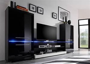 Meuble De Tele Design : meuble tv avec rangement pas cher meuble tv grande longueur maisonjoffrois ~ Teatrodelosmanantiales.com Idées de Décoration