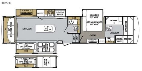 front kitchen rv floor plans new 2015 forest river rv cardinal 3875fb fifth wheels at 6758