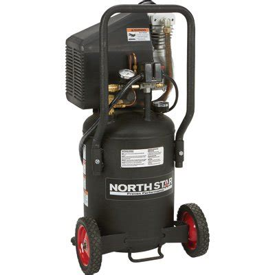northstar portable electric air compressor 1 5 hp 8 gallon vertical 3 0 cfm