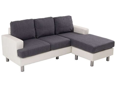 canapé d angle en canapé d 39 angle fixe 3 places en tissu ronane coloris blanc