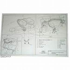 1966 66 Ford Mustang Full Color Laminated Wiring Diagram