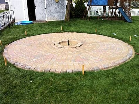 diy patio with pit