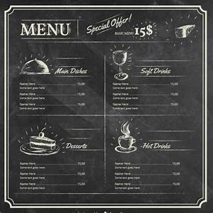 25 chalkboard menu templates free word menu card designs With chalkboard template microsoft word