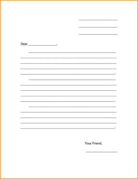 letter writing template 5 printable formal business letter format expense report