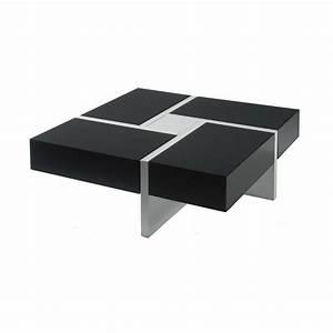 Table De Salon Alinea : table basse carr e quadro univers du salon tousmesmeubles ~ Dailycaller-alerts.com Idées de Décoration