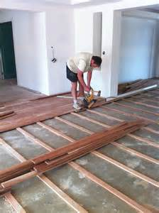 hardwood flooring on slab construction techniques