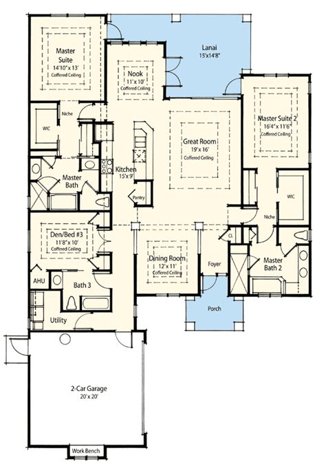 master suite plans dual master suite energy saver 33093zr architectural